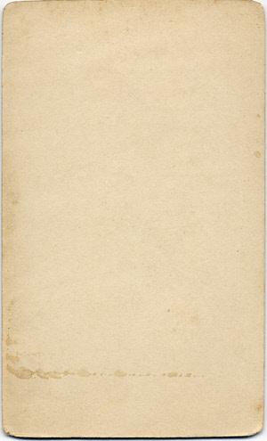 Arthur Alfred Woodbridge carte de visite 1 (verso)