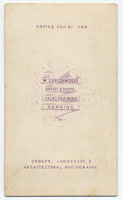 William Usherwood Carte de Visite 2 (verso)
