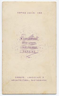 William Usherwood Carte de Visite 2 (verso)