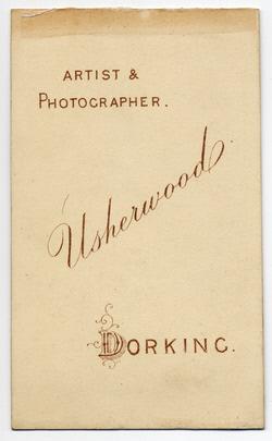 William Usherwood Carte de Visite 3 (verso)