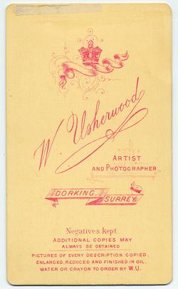 William Usherwood Carte de Visite 4 (verso)