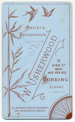 William Usherwood Carte de Visite 5 (verso)