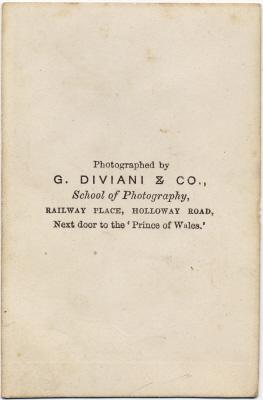 G Diviani & Co carte de visite photo 1 (verso)