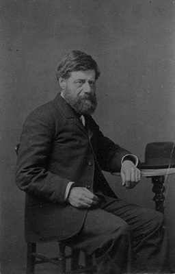 Photograph of Eugenio Giuseppe Diviani (1828-1906) taken by Gaudenzio Diviani
