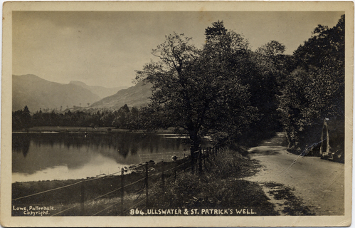 Joseph Lowe postcard view of Ullswater & St. Patrick's Well