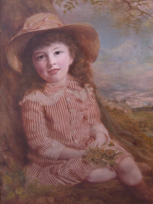 Painting by George McKenzie junior based on the photograph above