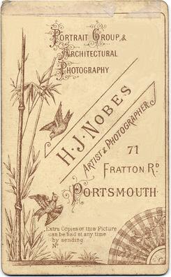 Henry James Nobes carte de visite photograph 1(verso)