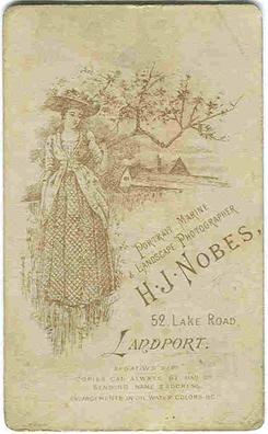 Henry James Nobes carte de visite photograph 2(verso)