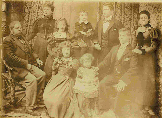 Henry Nobes and Helena Nobes with their 7 eldest children – c 1894