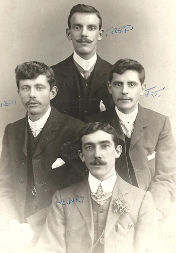 The Biltcliffe boys in about 1901
