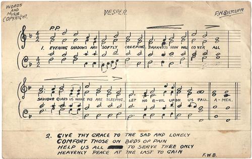 Copyright music by Frederick William Biltcliffe