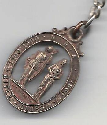 National Rifle Association medal won by  Fred Biltcliffe