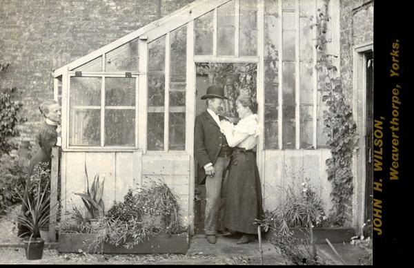 John Herbert Wilson cabinet card photograph of a humorous scene 2