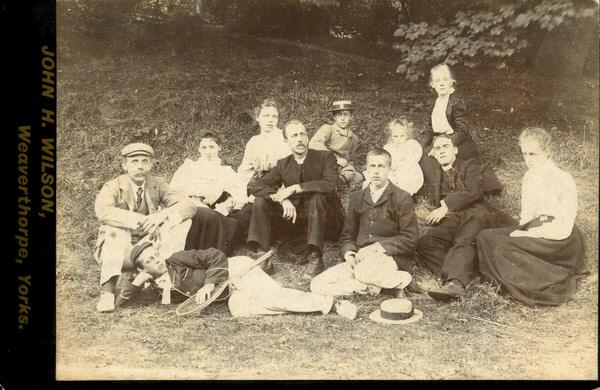 John Herbert Wilson cabinet card photograph of a picnic 3