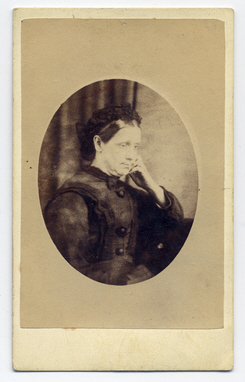 Mrs Emma Exley & Thomas Stubbins carte de visite photograph 2