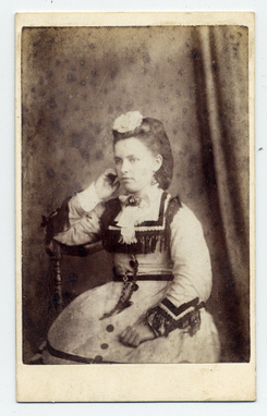 Mrs Emma Exley & Thomas Stubbins carte de visite photograph 1