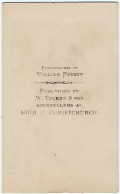 William Pousty carte de visite photograph 6 (verso)