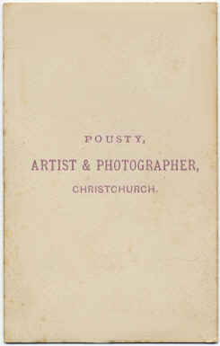 William Pousty carte de visite photograph 9 (verso)