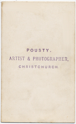 William Pousty carte de visite photograph 10 (verso)