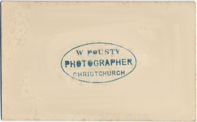 William Pousty carte de visite photograph 8 (verso)