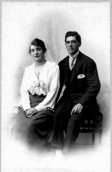Herbert Needham (Bert) Spencer & his wife Ethel (nee Dawes) sometime after 1919