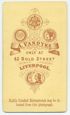 Aaron Vandyke carte de visite photograph 4 (verso)
