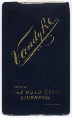 Aaron Vandyke carte de visite photograph 13 (verso)
