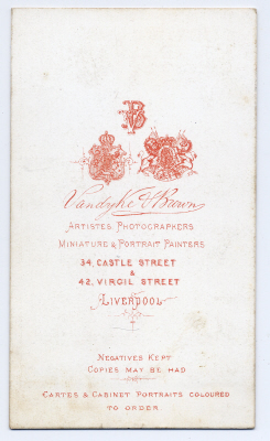 Vandyke & Brown carte de visite photograph 2 (verso)