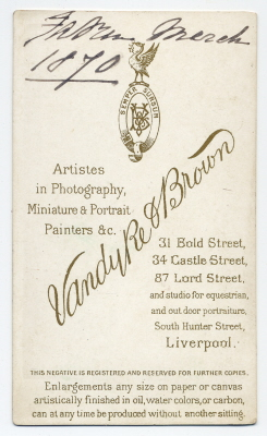 Vandyke & Brown carte de visite photograph 7 (verso)