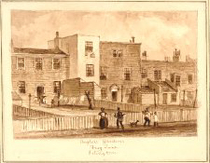 Frank Walton's birthplace – Frog Lane, Islington, Middlesex. 1834.