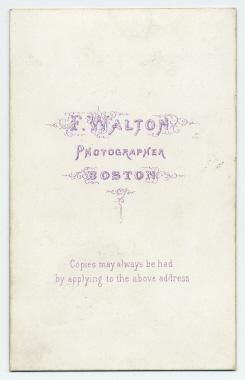 Frank Walton carte de visite photograph 1 (verso)