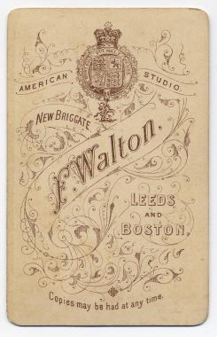 Frank Walton carte de visite photograph 4 (verso)