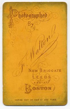 Frank Walton carte de visite photograph 5 (verso)