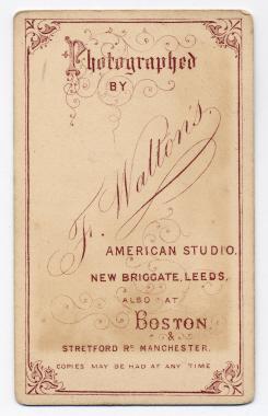 Frank Walton carte de visite photograph 7 (verso)
