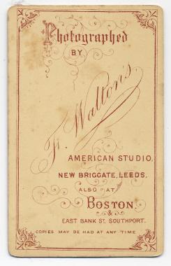 Frank Walton carte de visite photograph 8 (verso)