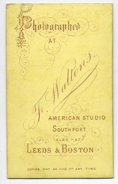 Frank Walton carte de visite photograph 12 (verso)