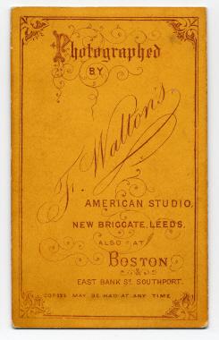 Frank Walton carte de visite photograph 14 (verso)