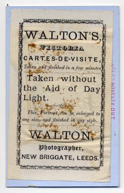 Frank Walton carte de visite photograph 15 (verso)
