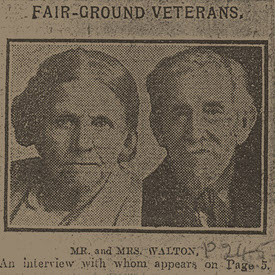 Frank and Mary Walton - their newspaper interview 1922