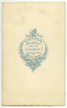 Marcus Guttenberg carte de visite photograph 3 (verso)