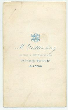 Marcus Guttenberg carte de visite photograph 5 (verso)