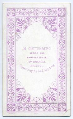 Marcus Guttenberg carte de visite photograph 6 (verso)