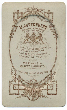 Marcus Guttenberg carte de visite photograph 8 (verso)