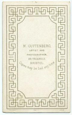 Marcus Guttenberg carte de visite photograph 9 (verso)
