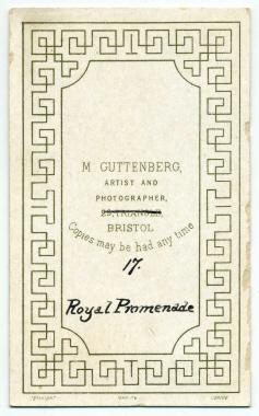 Marcus Guttenberg carte de visite photograph 10 (verso)