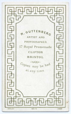 Marcus Guttenberg carte de visite photograph 11 (verso)