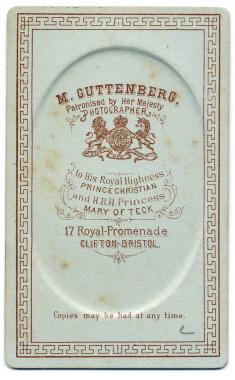 Marcus Guttenberg carte de visite photograph 14 (verso)