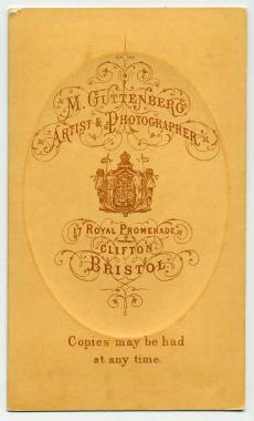 Marcus Guttenberg carte de visite photograph 15 (verso)