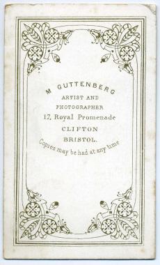 Marcus Guttenberg carte de visite photograph 17 (verso)