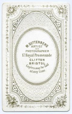 Marcus Guttenberg carte de visite photograph 23 (verso)